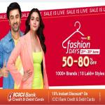 India Desire : Flipkart Fashion Days Sale: Upto 80% Off + Flat 10% Off Via ICICI Bank Cards On Clothing, Footwear & Fashion Accessories [21st To 25th June 2019]