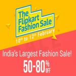 India Desire : Flipkart Fashion Sale 2017 : Upto 80% Off On Clothing, Footwear, Accessories & More [10th To 12th Feb]