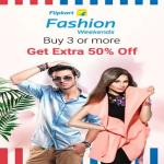 India Desire : Flipkart Fashion Weekend Sale: Buy 3 Or More Get Extra 50% Off On Clothing, Footwear & Fashion Accessories
