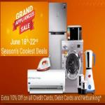 India Desire : Flipkart Grand Appliances Sale : Upto 80% Off + 10% Off On All Bank Cards & Net Banking [18th - 22nd June]