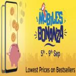 India Desire : Flipkart Mobiles Bonanza Offer: Get Great Discounts On Mobiles + Extra 5% Cashback Via HDFC Cards Between 5th To 9th Sep 2019
