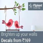 India Desire : Flipkart Wall Stickers Offer : Get Upto 92% Off On Large PVC Wall Decals & Stickers From Rs 45 Only