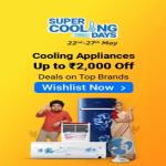 India Desire : Flipkart Super Cooling Days 22nd To 27th May 2020: Upto 65% Off + Extra 10% Off On Refrigerators,Fan, Cooler & Air Conditioners