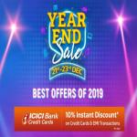 India Desire : Flipkart Year End Sale: Get Great Discount On Mobiles & Electronics + Extra 10% Discount WIth ICICI Credit Cards [21st-23rd Dec 2019]