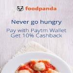 India Desire : Foodpanda Paytm Offer : Extra 10% Cashback At Foodpanda Using Paytm Wallet