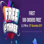India Desire : Firstcry Free At 3 Offer: First 500 Order Get 100% Off Upto Rs 1500 At 3 PM On 25th Dec 2019