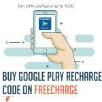 India Desire : Freecharge Google Play Recharge Offer : Get 10% Cashback On Google Play Recharge Code