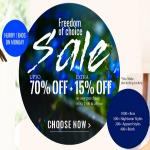 India Desire : Zivame Freedom Of Choice Sale : Get Upto 70% Off + Extra 15% Off On Any Purchase Of Rs. 1500 Or Above On Independence Day From Zivame