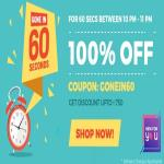 India Desire : Fynd Free shopping Offer : Get Free Shopping For 1 Minute Between 10 PM - 11 PM  On Fynd