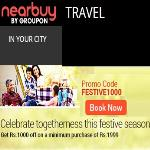 India Desire : Groupon Travel Deals : Get 25% Off On Travel Deals + 1% Off With Payumoney- ESCAPE25