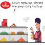 India Desire : Haldirams Freecharge Offer : Get 50% Cashback At Haldirams Retail Stores Via Freecharge Wallet