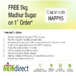 India Desire : Get 5 kg Sugar Free On 1st Order From Reliance Fresh Direct Use Coupon HAPPY5