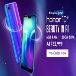 India Desire : Honor 10 Flipkart Price @Rs 32999 : Pre-Order Sale @16th May, Specifications & Buy Online In India