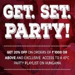 India Desire : KFC House Party Offer : Get Flat 20% OFF On Rs. 1000 use promo code KFCHP20