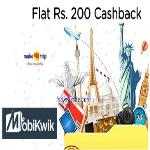 India Desire : MakeMyTrip Mobikwik Offer: Get Rs. 200 Cashback On Rs 3500 Using Mobikwik Wallet