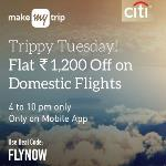 India Desire : MakeMyTrip #TrippyTuesday offer : Flat 1200 Cashback On Domestic Flight Booking Between 4 Pm To 10 Pm