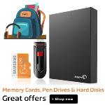 India Desire : Flipkart- Get Upto 50% Off On Branded External Hard Drives + Extra 10% Discount With Debit/Credit Card Payment