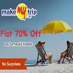 India Desire : Makemytrip- Get Flat 70% Off On Domestic Hotels Booking - MMTBMS