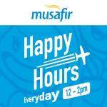 India Desire : Musafir Happy Hours Sale : [HAPPYMUSAFIR] Get 20% Off On Domestic Flights Everyday Between 12PM To 2PM