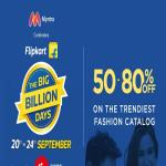 India Desire : Myntra Big Billion Days Sale : Get 50% To 80% Off On Fashion Products Between 20th To 24th September 2017