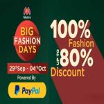 India Desire : Myntra Big Fashion Days [10th-14th Oct 2018]: Get Flat 80% Discount On Fashion Products