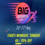 India Desire : Myntra Big Sports Fest : Upto 70% Off On Sports Fashion + Extra 10% PhonePe Cashback [26th - 27th Aug 2017]