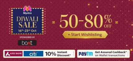 India Desire : Myntra Fashionotsav 25th-27th October 2018 : Get Great Discounts On Fashion Products