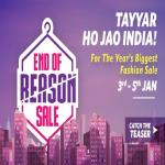 India Desire :  Myntra End Of Reason Sale [3rd-5th Jan 2017] : Flat 80% Off + 10% Cashback
