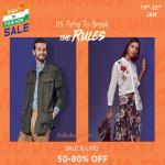 India Desire : Myntra Right To Fashion Sale: Get 50% To 80% Off On Wide Range Of Fashion + Extra 15% Off With Yes Bank Card [19th To 22nd Jan 2019]