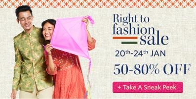 India Desire : Myntra Right To Fashion Sale : Independance Day Offers [13th To 15th Aug 2016]