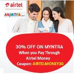 India Desire : Myntra Airtel Money Offer : Get 30% off On Myntra When you Pay Through Airtel Money-AIRTELMONEY30