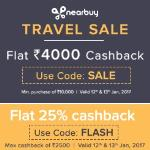 India Desire : Nearbuy Big Travel Flash Sale : Flat Rs. 4000 Cashback On Travel Deals Between 12th To 13th Jan 2017
