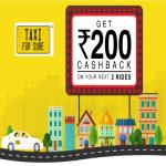 India Desire : TaxiForSure Cashback Offer : Get Rs. 100 Or Rs. 75 Cashback On Cab Booking For Next 2 Rides At TaxiForSure