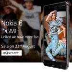 India Desire : Buy Nokia 6 Mobile On Amazon/Flipkart @ Rs 14999 Price, Flash Sale, Registration Open, Specifications [First Sale 23rd August]