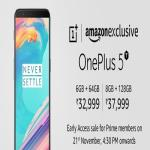 India Desire : Buy OnePlus 5T On Amazon @Rs 32999: Preorder, Sale @21st Nov 2017 4:30PM, Specifications & Buy Online