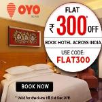 India Desire : Get Flat Rs. 300 Off On Booking Hotels Across India Via OYO Rooms