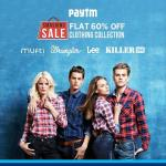 India Desire : Paytm Smashing sale: Get Flat 60% Off On Branded Clothing Start From Rs 209 Only