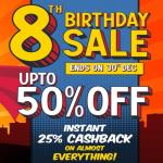 India Desire : Pepperfry 8th Birthday Sale: Get Upto 50% Off + Instant 25% Cashback On Everything [27th-30th December 2019]