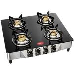 India Desire : Buy Pigeon by Stovekraft Favourite Blackline Smart Glass Top 4 Burner Gas Stove, Manual Ignition, black at Rs. 2999 from Amazon