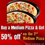 India Desire : Pizza Hut 50% Off On Second Medium Pizza