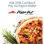India Desire : Pizza Hut Paytm Offer: Get 25% Cashback At Pizza Hut Using Paytm wallet