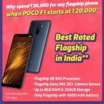 India Desire : Xiaomi Poco F1 Flipkart Big Shopping Days Price Starts @Rs 19999: Buy In Open Sale, Specifications & Buy Online in India [Extra 10% HDFC Cards Discount 6th-8th Dec]