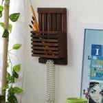 India Desire : Buy Brown Wooden Letter Rack Cum Key Holder by Home Sparkle At Rs 149 From Pepperfry