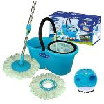 India Desire : BuyPrimeway 360 Degree Rotating Blue & White 5500 ML Magic Spin Mop Set with 2 Microfibre Mop Heads At Rs 379 From Pepperfry [Regular Price Rs 699]