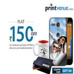 India Desire : Get Rs. 50 off On Customized Product From Printvenue And Rs. 150 cashback on Rs. 300, Rs. 150 off on Rs. 499, Rs. 300 off on Rs.999-GET50