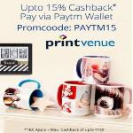 India Desire : Printvenue Paytm Offer : Flat 15% Cashback On Printvenue Via Paytm [PAYTM15]