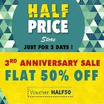 India Desire : Pintvenue Half Price Sale : Get Flat 50% Off & 15% cashback With Mobikwik On Pintvenue 3rd Anniversary Sale Use Promo Code HALF50
