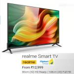 India Desire : Realme Smart TV Flipkart Price Rs 12999, Next Sale Date 14th July @12PM, Features & Buy Online In India