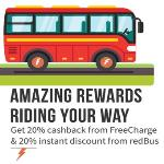 India Desire : Redbus Freecharge Offer : Get Rs 50 Cashback On Bus Ticket Booking At Redbus Via Freecharge Wallet