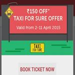 India Desire : Redbus Taxiforsure offer: Get Rs. 150 Coupon Code For Taxiforsure on Booking Bus Ticket From Redbus